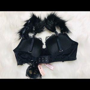 NEW!!!!! Black Victoria Secret Feather Strap Bra